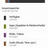 Asus ZenFone 5: Speicherbelegung 16GB Modell