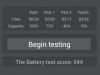 Avus A24 - AnTuTu Battery Tester Ergebnis