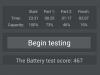 Wiko Stairway - AnTuTu Battery Tester Ergebnis