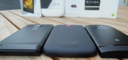 Huawei Ascend P1-HTC One S-Sony Xperia P - schöne Rücken