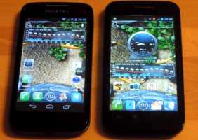 Mobistel Elson Cynus T1 und Alcatel One Touch 997D Ultra