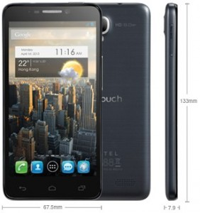 Alcatel One Touch Idol 6030D Slate / Schiefergrau