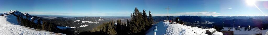 Panoramabild mit Wiko  Darkfull - Brauneck / Lenggries