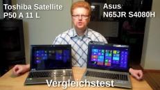 Vergleichstest Asus N56 Toshiba P50