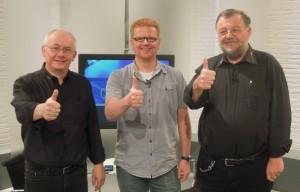 Zu Besuch beim Computerclub 2: Heinz Schmitz, Klaus Reiter und Wolfgang Rudolph