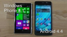 Vergleich Windows Phone 8.1 va. Android 4.4 KitKat