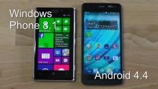 Vergleich Windows Phone 8.1 va. Android 4.4 KitKat