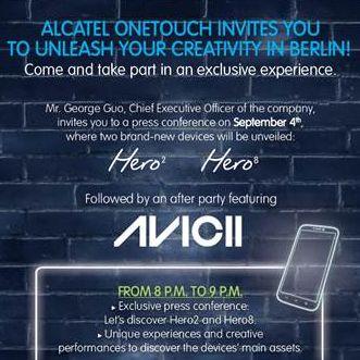 Alcatel Einladung AVICII