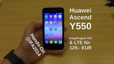 Huawei Ascend Y550 Hands-On