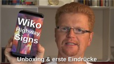 Wiko Highway Signs Unboxing