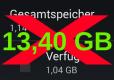 Avus Speicherudate 13,4GB