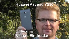 Huawei Ascend Y550 Unboxing mit Text