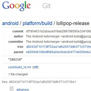 Lollipop Source Code im AOSP  Git