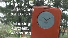 Stilgut LG G3 Leder Case mit Fenster