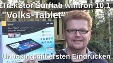 Trekstor SurfTab Wintron 10.1 Unboxing