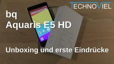 bq Aquaris E5 HD Unboxing