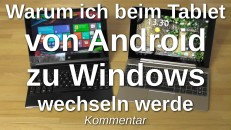 Android vs. Win81 auf dem Tablet