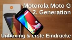 Motorola Moto G 2. Generation UNboxing