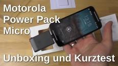 Motorola Power Pack Micro Unboxing