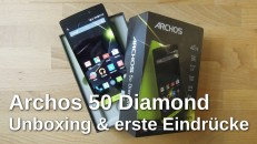 Archos 50 Diamond Unboxing