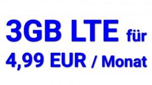 Logitel 3GB 4,99 EUR Angebot