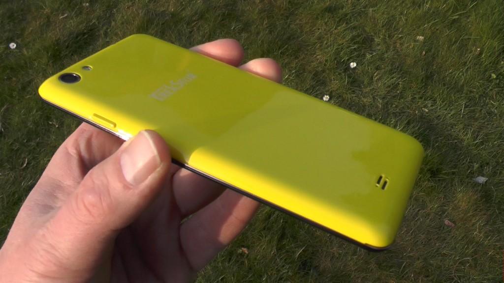 TrekStor WinPhone 4.7 HD gelb rückseite