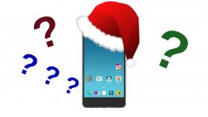 Smartphone Santa Fragezeichen